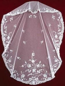Belgian Princess Lace veil V-90633 1