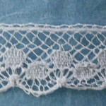 Antique French Lace Polka dot, white