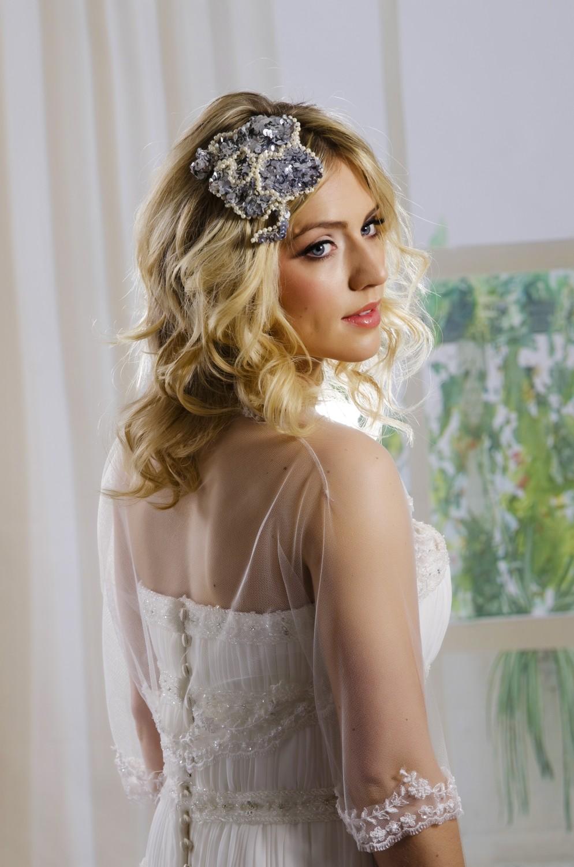 Be Bespoke Bridal Headpieces Ireland - Clara silver bridal headpieces