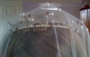 Drop Veil and Tiara worn together