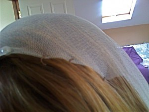 Drop Veil attached with Straight hair pin