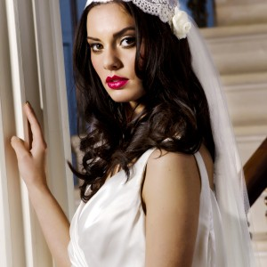 Kate Moss Wedding Veil in Lace and Silk tulle