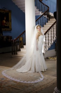 Lace Wedding Veil, Sarah, full width, 300cm