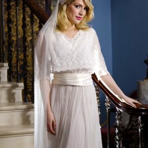Lily allen, Lace Cap Wedding Veil