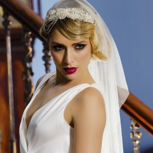 Emilie headband wedding Veil