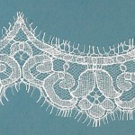 French Ivory lace edging, tulip