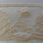 Champagne French antique lace edging,