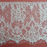 Ivory Silk Lace Edging