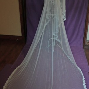 Kristine, Silk Wedding Veil