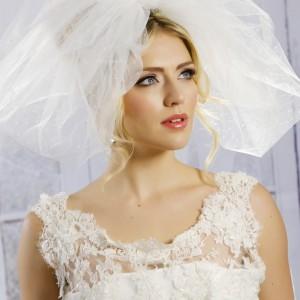 Ivory Bubble Wedding Veils