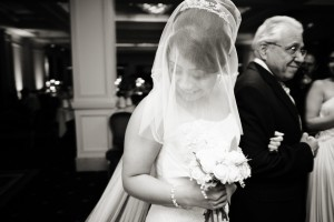 Nazanin Wedding veil with detachable blusher