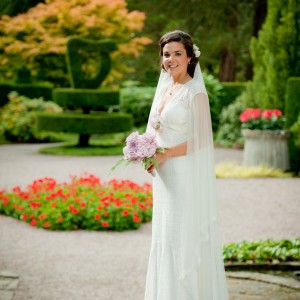 Rachael Silk and lace wedding Veils