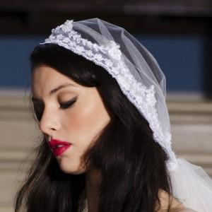 Cap Wedding  Veils, Roslyn