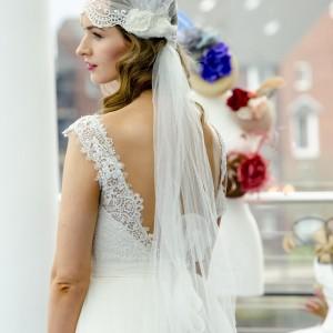 Sky Cap Wedding Side Veil