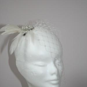Side Birdcage veil, Louise