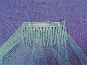 Drop Veil comb no gathering