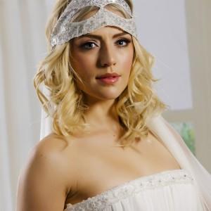 Ava, headband veil