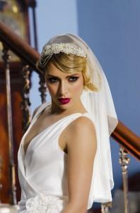 Emilie headband wedding Veil