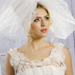 Ivory Bubble Wedding Veils