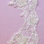 Chloe champagne lace edging