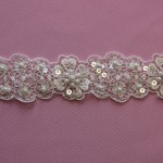 Crocus Ivory beaded trim