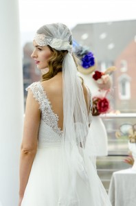 Sky Cap Wedding Side Veil