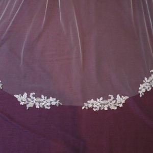 Maya Ivory and Crystal Wedding Veil