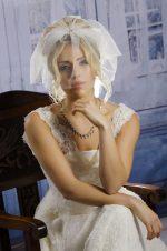 Model wears Tulle Face Visor