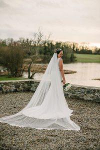 Bespoke veil design, Visionary Veils Real Bride, Lorna, NI, 2018