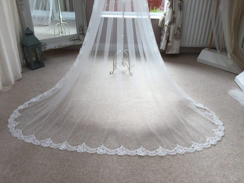 lace wedding veil, in Visionary Veils Veil ,studio
