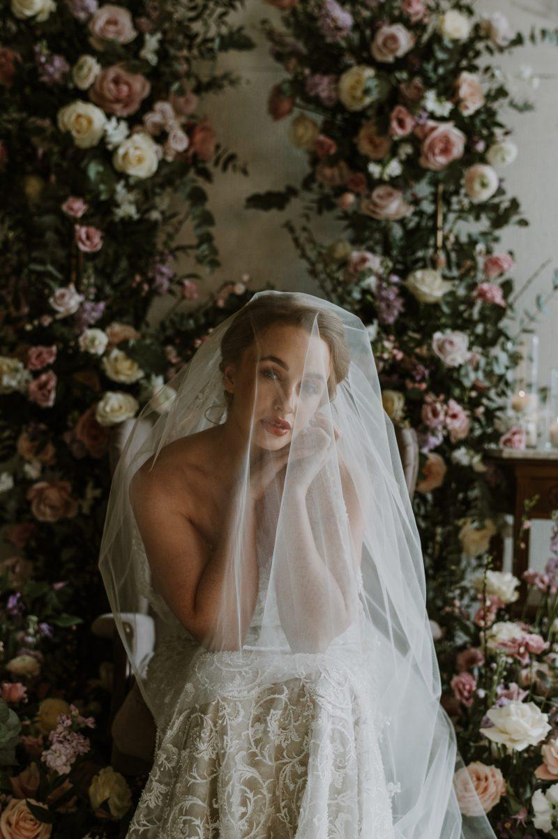 Wedding veil blusher