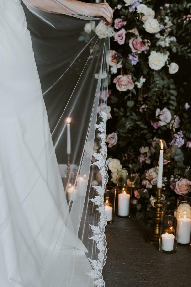 Leaf edged wedding veils, Fleur Veil