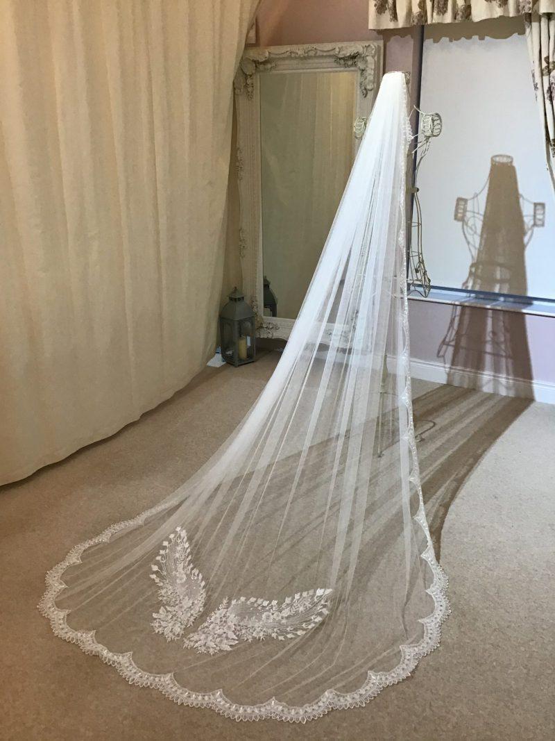 Lace wedding veil, Visionary Veils Studio.
