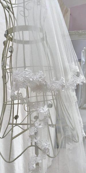 Full Floral Edged Veil, Helen