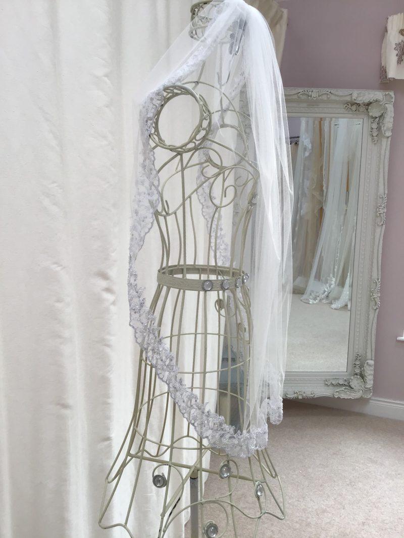 Silver Edged White Veil, Joanna