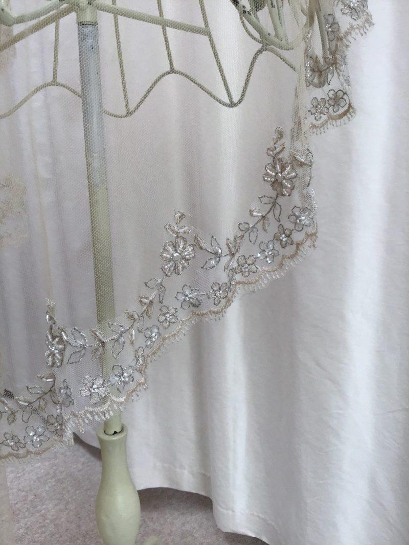 Vintage Gold Beaded Veil, Elizabeth