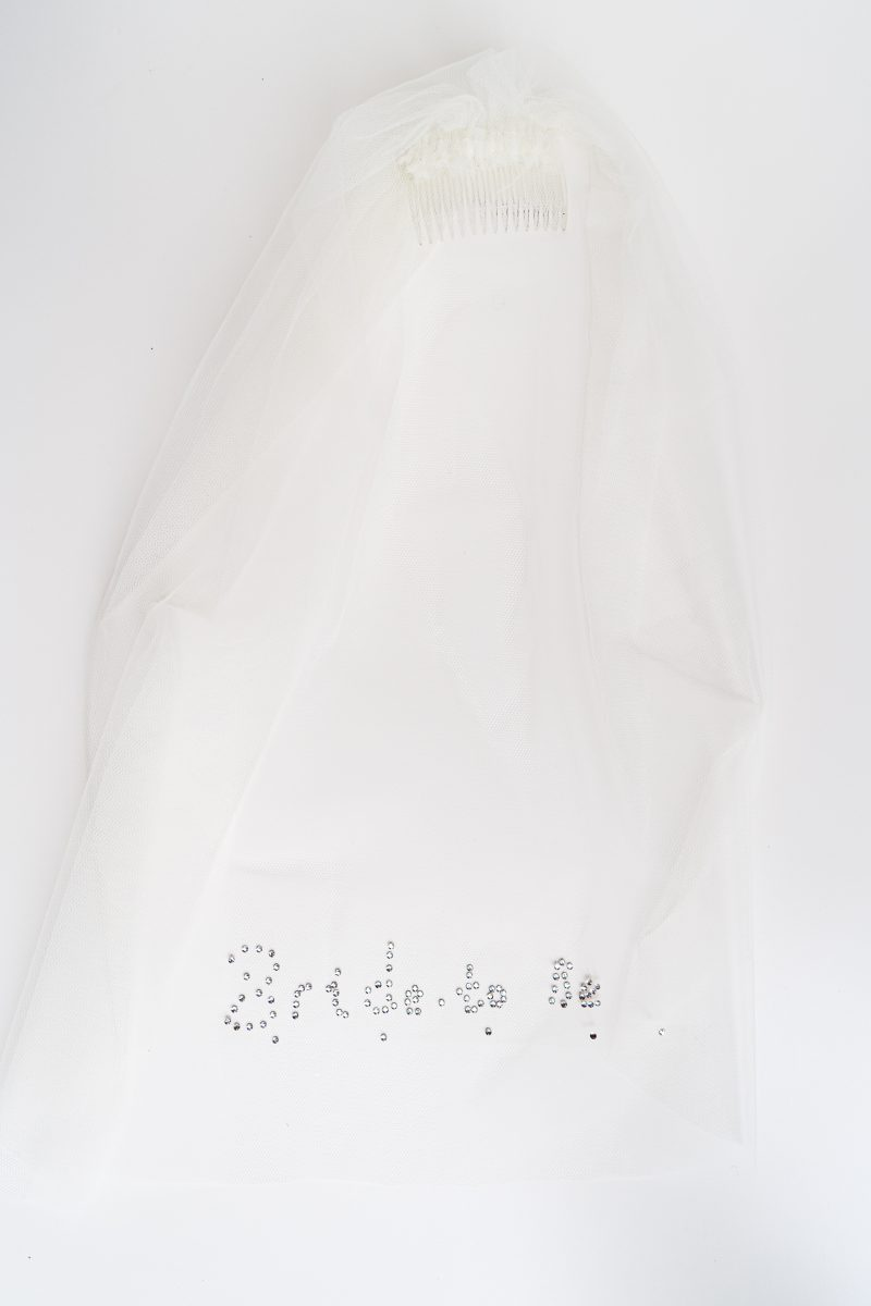 hen do veil, Bride to be, Swarovski detail