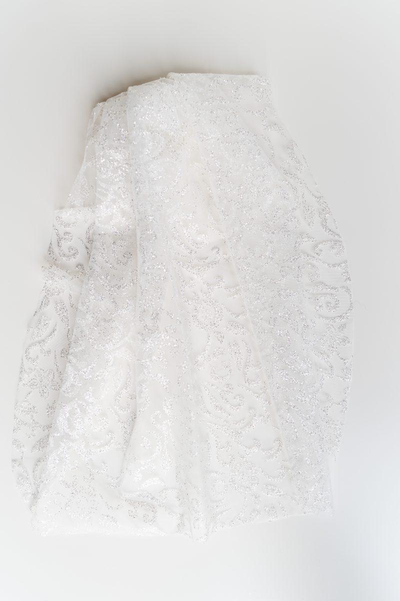 hen veil with glitter detail